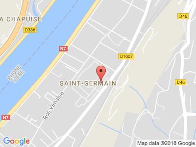 Plan Google Stage recuperation de points à Vienne proche de Pont-Évêque