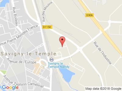 Plan Google Stage recuperation de points à Savigny-le-Temple proche de Vaux-le-Pénil