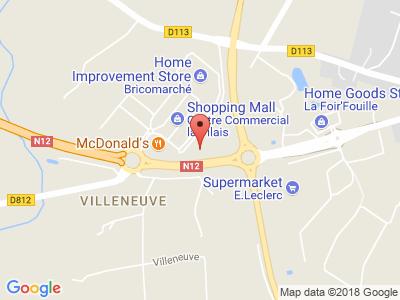 Plan Google Stage recuperation de points à Fougères proche de Romagne