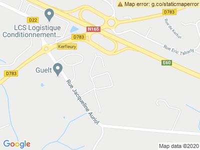 Plan Google Stage recuperation de points à Quimperlé proche de Pontivy