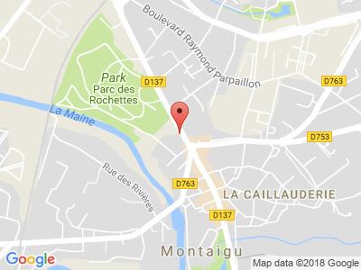 Plan Google Stage recuperation de points à Montaigu proche de Boufféré
