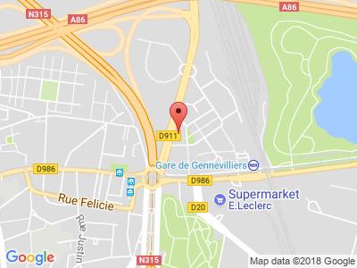 Plan Google Stage recuperation de points à Gennevilliers proche de Épinay-sur-Seine