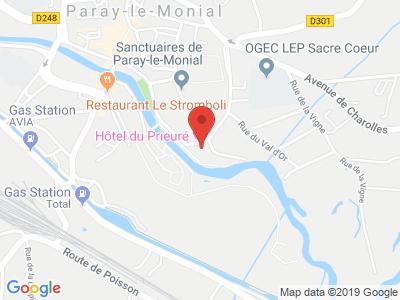Plan Google Stage recuperation de points à Paray-le-Monial proche de Montceau-les-Mines