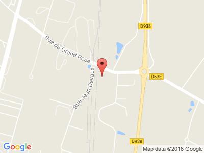 Plan Google Stage recuperation de points à Thouars proche de Biard