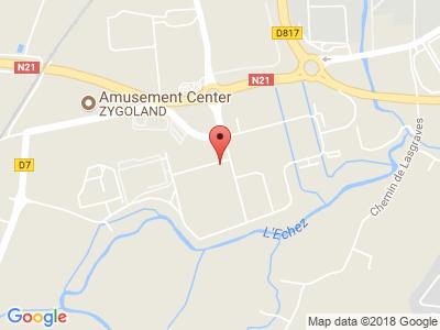 Plan Google Stage recuperation de points à Tarbes proche de Odos