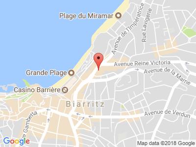 Plan Google Stage recuperation de points à Biarritz proche de Saint-Jean-de-Luz