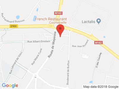 Plan Google Stage recuperation de points à Changé proche de Vitré