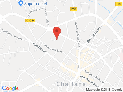 Plan Google Stage recuperation de points à Challans proche de Les Sables-d'Olonne