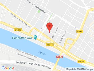 Plan Google Stage recuperation de points à Rouen proche de Mont-Saint-Aignan