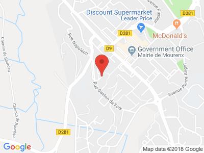 Plan Google Stage recuperation de points à Mourenx proche de Orthez