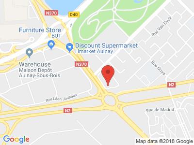 Plan Google Stage recuperation de points à Aulnay-sous-Bois proche de Livry-Gargan