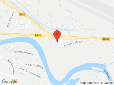 Plan Google Stage recuperation de points à Aire-sur-l'Adour proche de Saint-Pierre-du-Mont