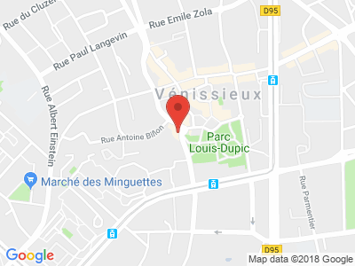 Plan Google Stage recuperation de points à Vénissieux proche de Saint-Priest