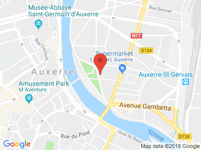 Plan Google Stage recuperation de points à Auxerre