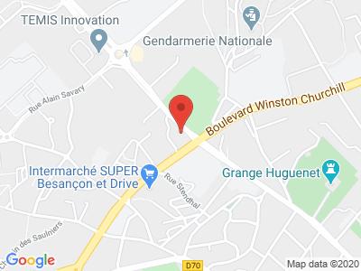 Plan Google Stage recuperation de points à Besançon proche de Vesoul