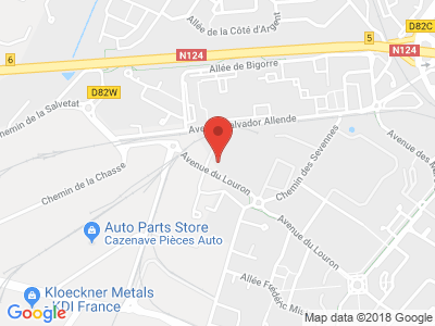 Plan Google Stage recuperation de points à Colomiers proche de Grenade