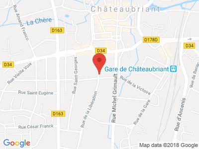 Plan Google Stage recuperation de points à Châteaubriant proche de Ancenis