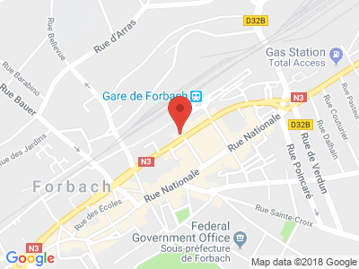 Plan Google Stage recuperation de points à Forbach proche de Hambach