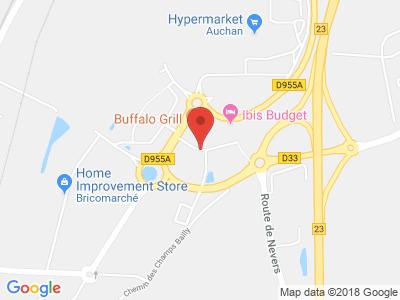 Plan Google Stage recuperation de points à Cosne-Cours-sur-Loire