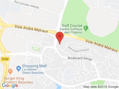 Plan Google Stage recuperation de points à Poitiers proche de Biard