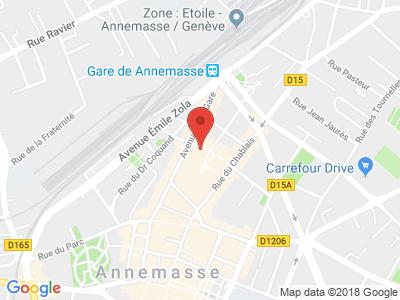 Plan Google Stage recuperation de points à Annemasse proche de Cornier