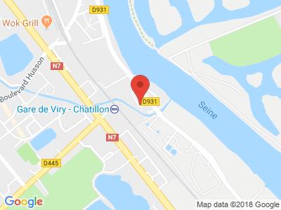 Plan Google Stage recuperation de points à Viry-Châtillon proche de Brétigny-sur-Orge