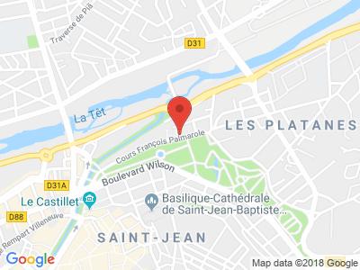 Plan Google Stage recuperation de points à Perpignan proche de Saint-Estève
