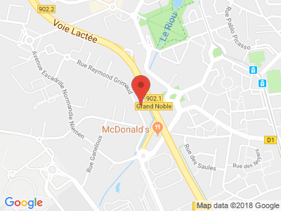 Plan Google Stage recuperation de points à Blagnac proche de Grenade