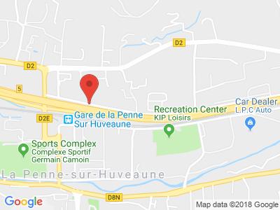 Plan Google Stage recuperation de points à La Penne-sur-Huveaune proche de Gémenos