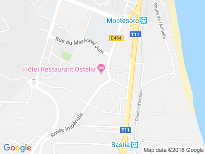 Plan Google Stage recuperation de points à Bastia proche de Aléria