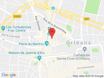 Plan Google Stage recuperation de points à Orléans proche de Ardon