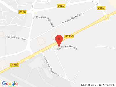 Plan Google Stage recuperation de points à Annemasse proche de Ferney-Voltaire