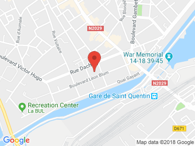 Plan Google Stage recuperation de points à Saint-Quentin proche de Maubeuge