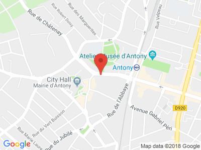 Plan Google Stage recuperation de points à Antony proche de Fresnes