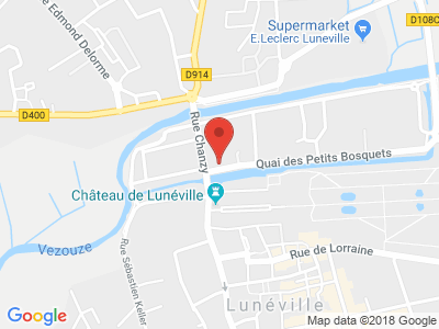 Plan Google Stage recuperation de points à Lunéville