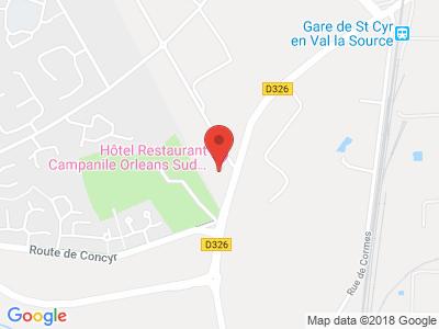 Plan Google Stage recuperation de points à Orléans