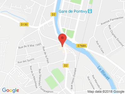 Plan Google Stage recuperation de points à Pontivy proche de Loudéac