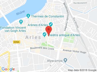 Plan Google Stage recuperation de points à Arles proche de Saint-Gilles