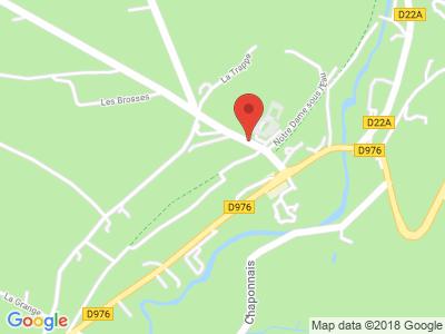 Plan Google Stage recuperation de points à Domfront proche de Flers