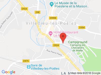Plan Google Stage recuperation de points à Villedieu-les-Poêles proche de Vire
