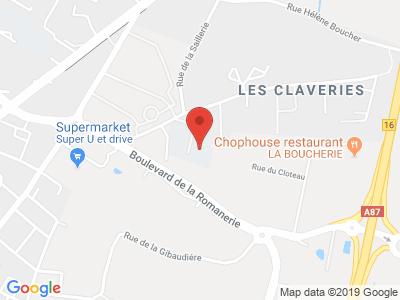 Plan Google Stage recuperation de points à Saint-Barthélemy-d'Anjou proche de Angers