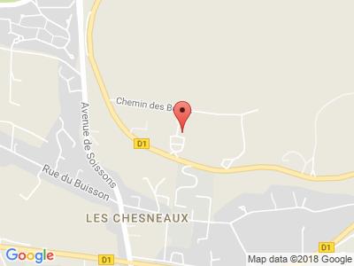 Plan Google Stage recuperation de points à Château-Thierry proche de La Ferté-sous-Jouarre