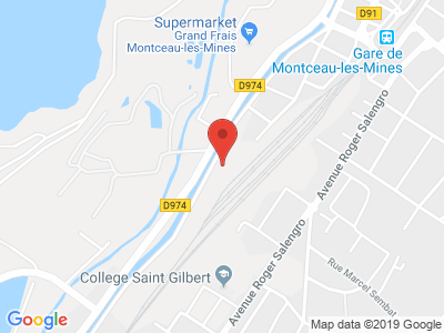 Plan Google Stage recuperation de points à Montceau-les-Mines proche de Paray-le-Monial