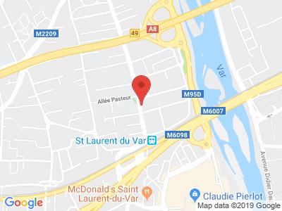 Plan Google Stage recuperation de points à Saint-Laurent-du-Var proche de Biot