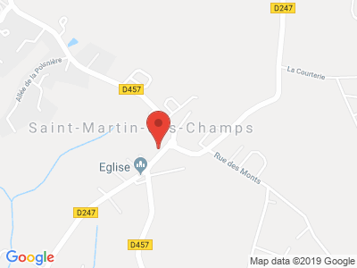 Plan Google Stage recuperation de points à Saint-Martin-des-Champs proche de Granville