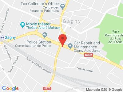 Plan Google Stage recuperation de points à Gagny proche de Chelles