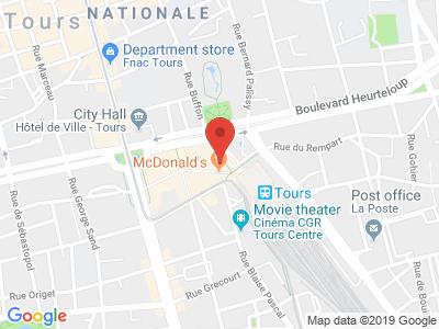 Plan Google Stage recuperation de points à Tours