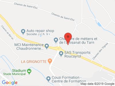 Plan Google Stage recuperation de points à Cunac proche de Albi
