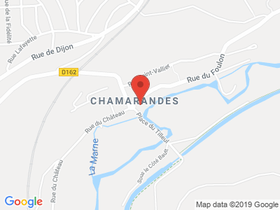Plan Google Stage recuperation de points à Chamarandes-Choignes proche de Saint-Dizier