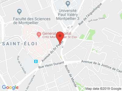 Plan Google Stage recuperation de points à Montpellier proche de Saint-Jean-de-Védas
